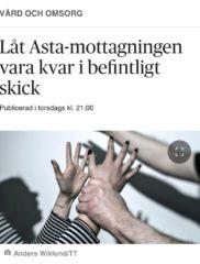 Rise i debattartikel om Asta-mottagningen